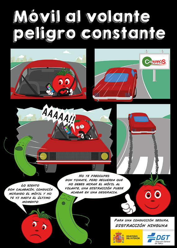 El Comic Seguridad Vial de Caparrós Nature