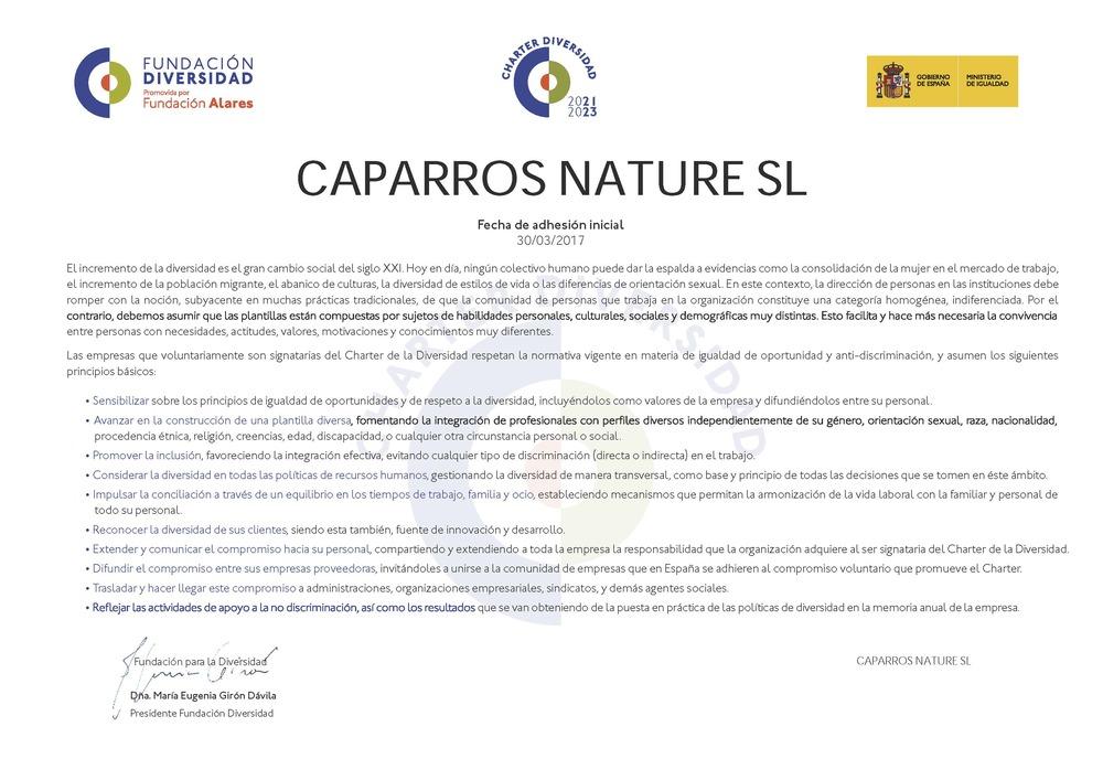 Diploma Charter Caparrós