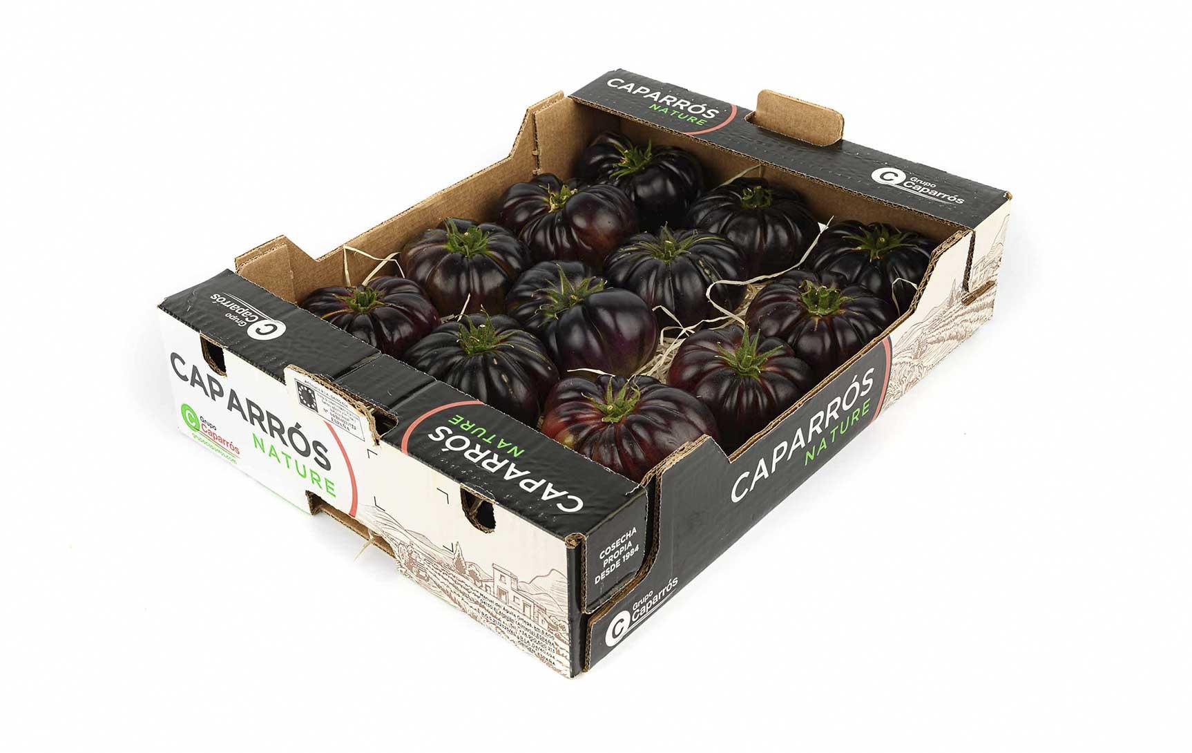 Packaging tomate-violeta-caparrós
