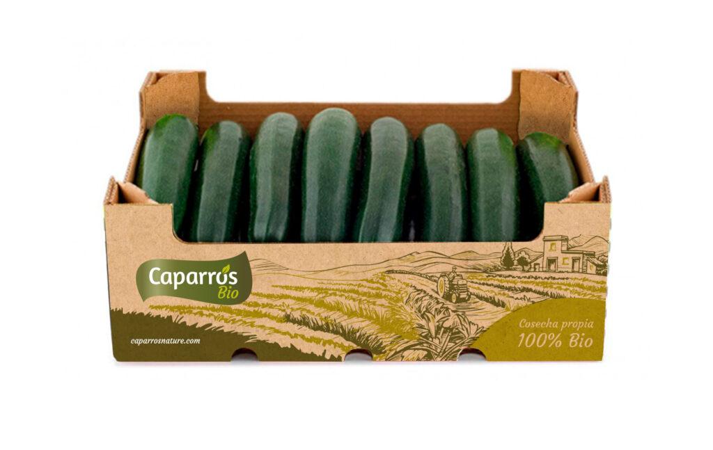 Packaging calabacín bio - Caparrós