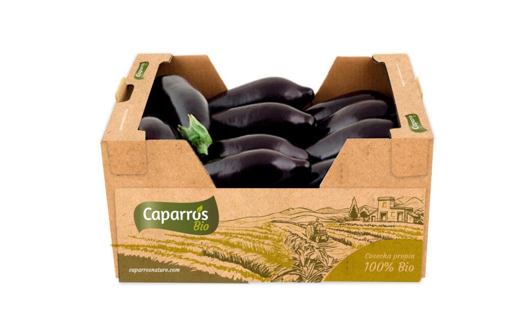 Packaging bio berenjena - Caparrós
